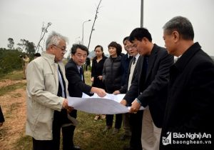 Mitsubishi Group field surveys for factory construction in Nghe An